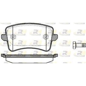 Bremsbelagsatz, Scheibenbremse Höhe: 48,8mm, Dicke/Stärke: 17,5mm mit OEM-Nummer 8K0 698 451 E