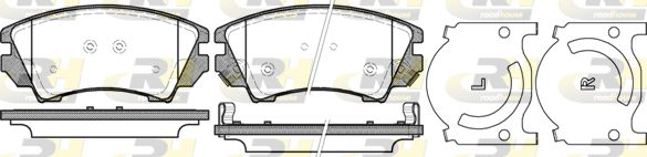 ROADHOUSE  21375.12 Brake Pad Set, disc brake Height: 66,7mm, Thickness: 18,8mm