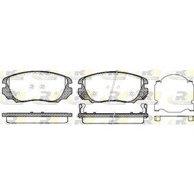 Bremsbelagsatz, Scheibenbremse Höhe: 59,6mm, Dicke/Stärke: 19mm mit OEM-Nummer 1605 624