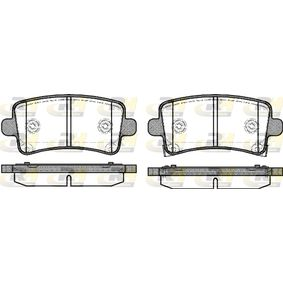 Brake Pad Set, disc brake Height: 47,4mm, Thickness: 17,3mm with OEM Number 22 846 359