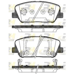 Bremsbelagsatz, Scheibenbremse Höhe: 60mm, Dicke/Stärke: 17,8mm mit OEM-Nummer 58101 2MA00