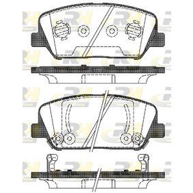 Bremsbelagsatz, Scheibenbremse Höhe: 60mm, Dicke/Stärke: 17,8mm mit OEM-Nummer 581012TA20