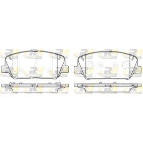 Bremsbelagsatz, Scheibenbremse Höhe: 60mm, Dicke/Stärke: 17,8mm mit OEM-Nummer 58101-A6A20