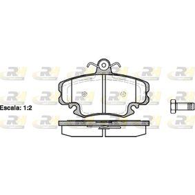 Bremsbelagsatz, Scheibenbremse 2141.20 TWINGO 2 (CN0) 1.2 Bj 2020