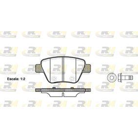 Bremsbelagsatz, Scheibenbremse Höhe: 53,4mm, Dicke/Stärke: 16,5mm mit OEM-Nummer 5K0 698 451A