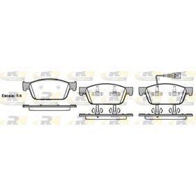 Bremsbelagsatz, Scheibenbremse Höhe: 75mm, Dicke/Stärke: 18mm mit OEM-Nummer 7E0 698 151