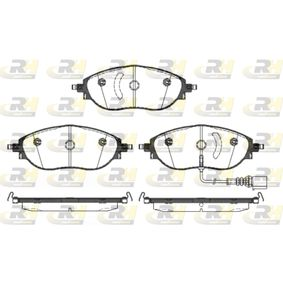 Brake Pad Set, disc brake Height: 69,7mm, Thickness: 20mm with OEM Number 3C0-698-151-G