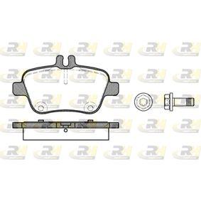 2012 Mercedes W176 A 200 1.6 (176.043) Brake Pad Set, disc brake 21477.00