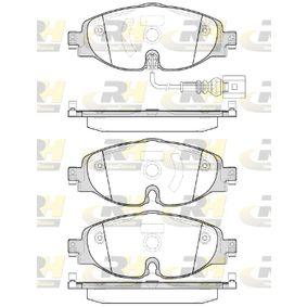 Kit de plaquettes de frein, frein à disque Hauteur: 64,5mm, Épaisseur: 20,4mm avec OEM numéro 8V0 698 151B