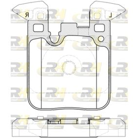 Brake Pad Set, disc brake 21539.00 3 Saloon (F30, F80) 316d 2.0 MY 2012