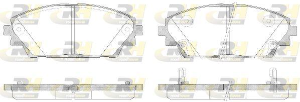 ROADHOUSE  21569.02 Brake Pad Set, disc brake Height: 55,8mm, Thickness: 15,8mm
