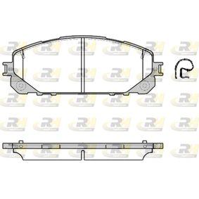 Bremsbelagsatz, Scheibenbremse Höhe: 62,2mm, Dicke/Stärke: 17,5mm mit OEM-Nummer 6821 2327AB