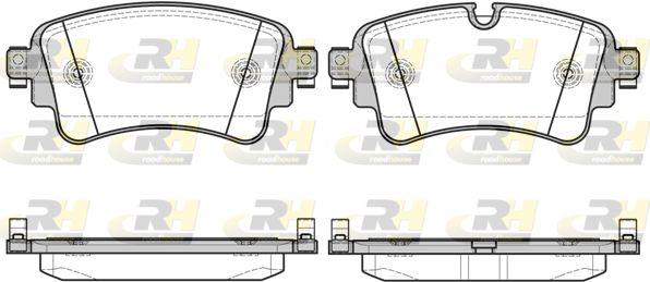 ROADHOUSE  21669.08 Brake Pad Set, disc brake Height: 59,1mm, Thickness: 17,5mm