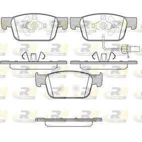 Kit de plaquettes de frein, frein à disque Hauteur: 64mm, Épaisseur: 17mm avec OEM numéro 8W0698151Q