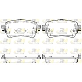 Brake Pad Set, disc brake Height: 53,4mm, Thickness: 17,5mm with OEM Number 16 17 936 880
