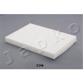 Filter, Innenraumluft Länge: 309mm, Breite: 212mm, Höhe: 30mm mit OEM-Nummer 04596501 AC