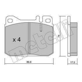 Bremsbelagsatz, Scheibenbremse Dicke/Stärke 1: 17,5mm mit OEM-Nummer A0004207820