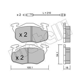 Bremsbelagsatz, Scheibenbremse Dicke/Stärke 1: 18,0mm mit OEM-Nummer 4248.62