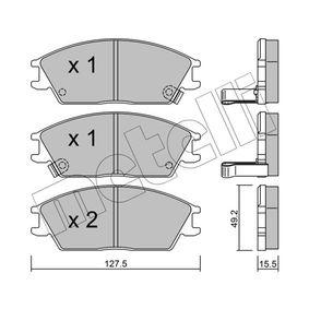 Bremsbelagsatz, Scheibenbremse Dicke/Stärke 1: 15,5mm mit OEM-Nummer 581011CA00