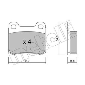 Bremsbelagsatz, Scheibenbremse Dicke/Stärke 1: 15,5mm mit OEM-Nummer 000420 98 20