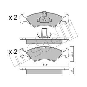 Bremsbelagsatz, Scheibenbremse Dicke/Stärke 1: 18,0mm mit OEM-Nummer 1 010 503