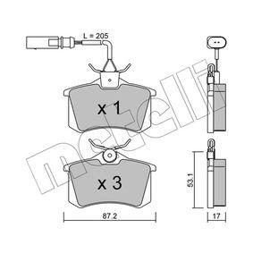 Bremsbelagsatz, Scheibenbremse Dicke/Stärke 1: 17,0mm mit OEM-Nummer 20961