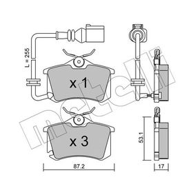 Bremsbelagsatz, Scheibenbremse Dicke/Stärke 1: 17,0mm mit OEM-Nummer 6Q0.698.451
