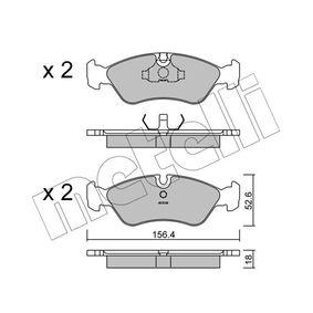 Bremsbelagsatz, Scheibenbremse Dicke/Stärke 1: 18,0mm mit OEM-Nummer 16 05 808