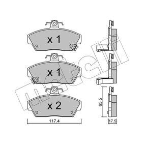 Bremsbelagsatz, Scheibenbremse Dicke/Stärke 1: 17,5mm mit OEM-Nummer GBP 90314
