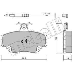 Bremsbelagsatz, Scheibenbremse Dicke/Stärke 1: 18,0mm mit OEM-Nummer 7701 201 774
