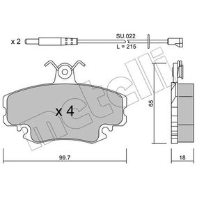 Bremsbelagsatz, Scheibenbremse Dicke/Stärke 1: 18,0mm mit OEM-Nummer 7701204 833