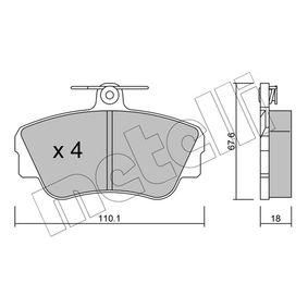 Brake Pad Set, disc brake Thickness 1: 18,0mm with OEM Number 3 344 787