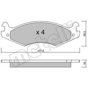 Bremsbelagsatz, Scheibenbremse Dicke/Stärke 1: 16,0mm mit OEM-Nummer 21820