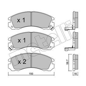 Kit pastiglie freno, Freno a disco 22-0134-0 Pajero Sport 1 SUV (K7_, K9_) 2.8 TDi (K77T) ac 1999