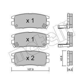 Kit pastiglie freno, Freno a disco 22-0151-0 L 400 Bus (PD_W, PC_W, PA_V, PB_V, PA_W) 2.5 TD 4WD ac 1998