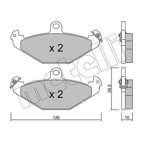 Bremsbelagsatz, Scheibenbremse Dicke/Stärke 1: 15,0mm mit OEM-Nummer 6025308186