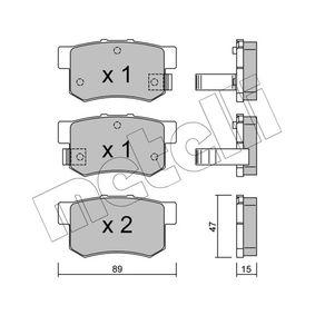 Honda Civic eu7 1.6i Bremsbeläge METELLI 22-0173-0 (1.6i Benzin 2003 D16W7)