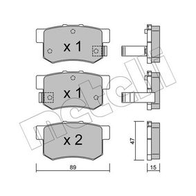 Brake Pad Set, disc brake Thickness 1: 15,0mm with OEM Number 43022-S9A-E52
