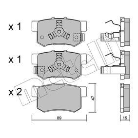 2006 Honda CR-V Mk2 2.2 CTDi (RD9) Brake Pad Set, disc brake 22-0173-1