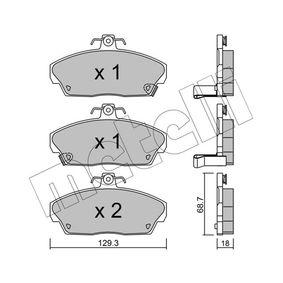 Комплект спирачно феродо, дискови спирачки ширина: 129,3мм, височина: 68,7мм, дебелина: 17,5мм с ОЕМ-номер GBP90315AF
