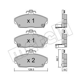 Brake Pad Set, disc brake Thickness 1: 18,0mm with OEM Number 45022SK3E00