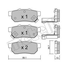 Комплект спирачно феродо, дискови спирачки 22-0176-1 Jazz 2 (GD_, GE3, GE2) 1.2 i-DSI (GD5, GE2) Г.П. 2004
