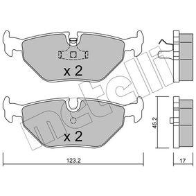 Bremsbelagsatz, Scheibenbremse Dicke/Stärke 1: 17,0mm mit OEM-Nummer 34211162446