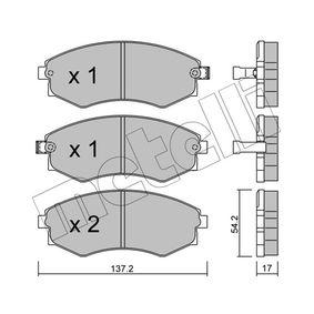 Bremsbelagsatz, Scheibenbremse Dicke/Stärke 1: 17,0mm mit OEM-Nummer 5810129A40