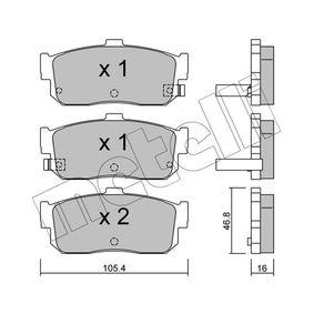 Juego de pastillas de freno 22-0193-1 ALMERA II Hatchback (N16) 1.5dCi ac 2006