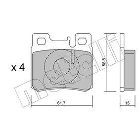Bremsbelagsatz, Scheibenbremse Dicke/Stärke 1: 15,0mm mit OEM-Nummer A0014209520
