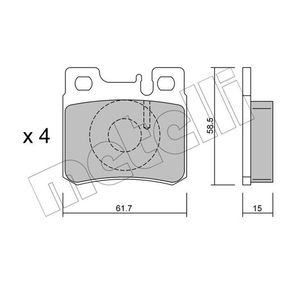 Bremsbelagsatz, Scheibenbremse Dicke/Stärke 1: 15,0mm mit OEM-Nummer 0014209520