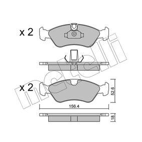 Bremsbelagsatz, Scheibenbremse Dicke/Stärke 1: 18,0mm mit OEM-Nummer 9051 1162