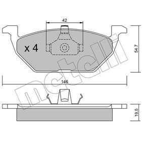 Bremsbelagsatz, Scheibenbremse Dicke/Stärke 1: 19,5mm mit OEM-Nummer 1J0-698-151