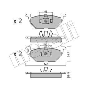 Bremsbelagsatz, Scheibenbremse Dicke/Stärke 1: 19,5mm mit OEM-Nummer 6Q0698151